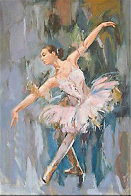 LMOP607 modern abstract 100% hand painted ballet girl art oil painting on canvas
