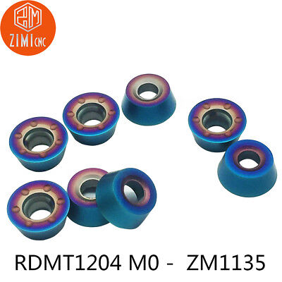 10pcs RDMT1204-MO M7011 Carbide Inserts  For  Lathe  Milling  Cutter Tool