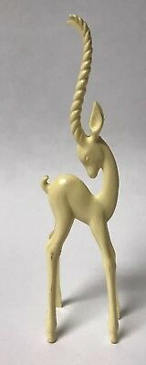 "Vtg Nosco/don Manning Art Deco Stylized Cream Gazelle Figurine - 5"" Tall!"