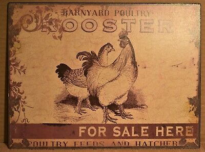 Metal Barnyard Poultry Sign (Reproduction)