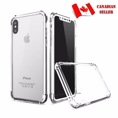 Fits NEW iPhone X/XS Clear TPU Case Cover and Tempered Glass Screen Protector