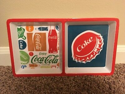 Enjoy Coca Cola 2 sided Dish, Serving, Appetizers, Coke, Party Dish