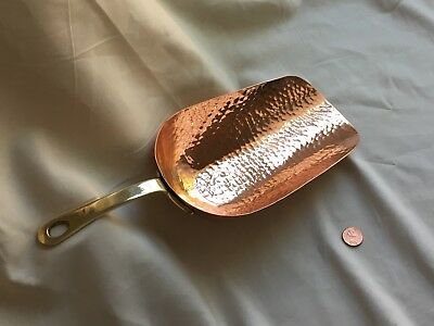 Hammered Copper And Brass J&P Scoop