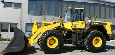 2013 Komatsu Wheel Loader WA470-6 One Owner Diesel engine 277 HP