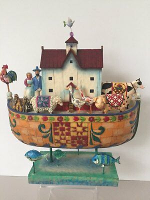 "Jim Shore ""Noah's Ark""  NIB with extra Nativity Scene Ornament"