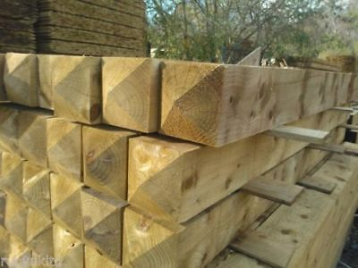 Treated Wooden Gate Posts - Field / Farm / Entrance Gate Post - Various Sizes