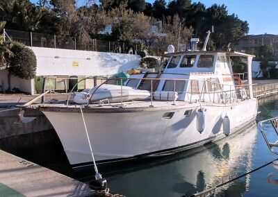 50 foot motor yacht lying in Mallorca ,Balearic islands