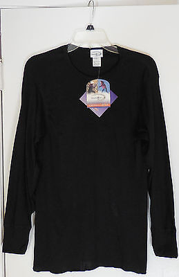 NWT Womens Duofold Performance Black Thermal Wear Top, Size XL