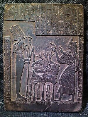 EGYPTIAN ANTIQUES ANTIQUITIES Seti I Getting Gifts Stela Relief 2291-2278-BC