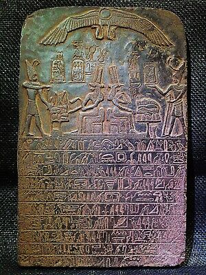 EGYPTIAN ARTIFACT ANTIQUITIES Queen Tetisheri Stela Stele Relief 1580-1550-BC