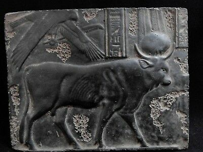 EGYPTIAN ARTIFACT ANTIQUITIES The Buchis Cult Stela Stele Relief 332-30-BC