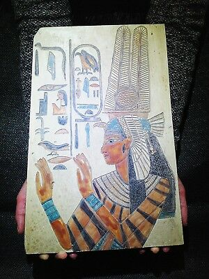 EGYPTIAN ARTIFACT ANTIQUITIES Queen Nefertari Stela Relief 1298-1235-BC
