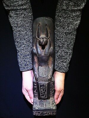 EGYPTIAN ARTIFACT ANTIQUITIES God Anubis Jackal Head Dog Statue 2685-2180-BC