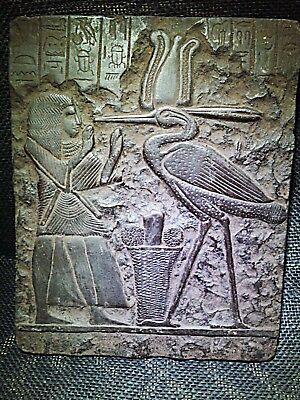 EGYPTIAN ARTIFACT ANTIQUITIES Bennu Bird Relief Stela Fragment 1570–1069-BC