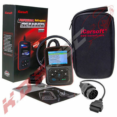 iCarsoft i910 + OBD-1 20 Pin Adapter Scanner für BMW Diagnose Motor ABS Airbag