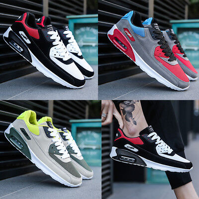 Fashion Mens Running Trainers Casual Lace Air Gym Walking Boys Sports Shoes Size