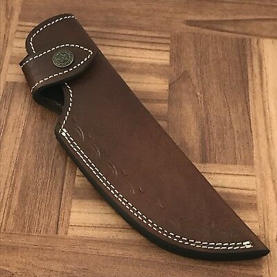 "AR4/ 9"" Custom Handmsde Leather Sheath For 5""—6""cutting blade knife."
