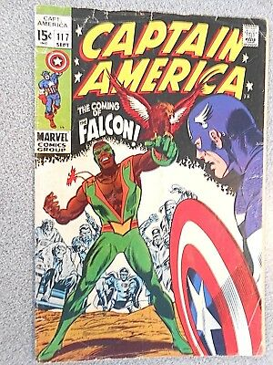 Captain America 1171st  first appearance Falcon 1969 Comic very good Marvel