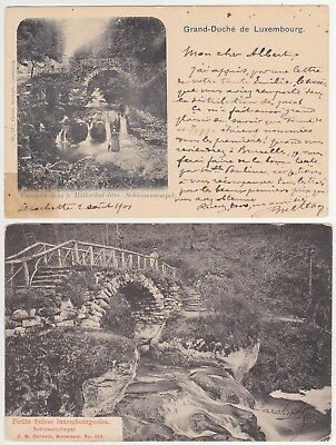 Luxembourg - Petite Suisse luxembourgeoise, Müllerthal (2 Postcards) 1901-1907
