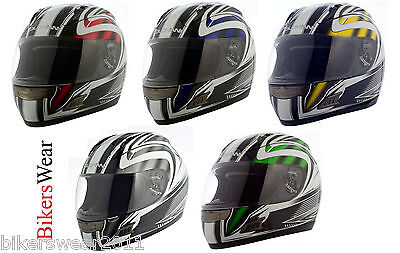 Duchinni D721 Grey Red Blue Yellow or Green Full Face Motorcycle Helmet S ONLY