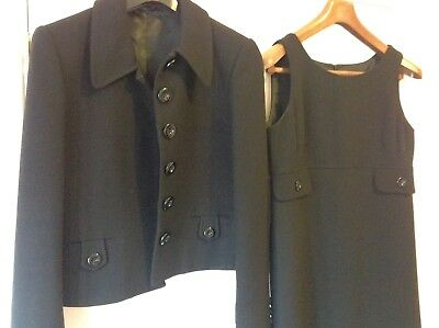 Ladies Hobbs Size 12 Tailered Dress Suit (jacket and dress) Black