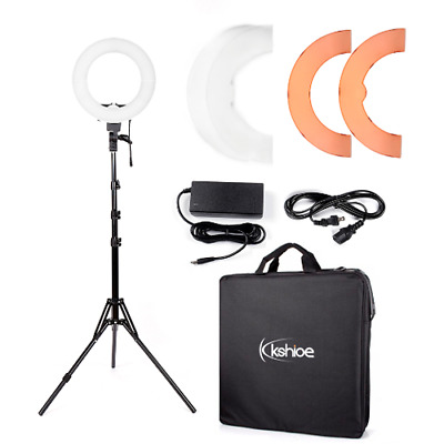 """Ktaxon 12"""" 5500K 180PCS LED Dimmable Ring Video Light with Color Filter Set"""