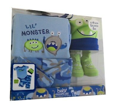 """Clothes for new born baby boy """"4 piece gift set."""" GREAT BABY SHOWER GIFT."""