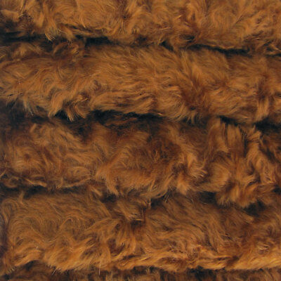 "1/4 yd 785S/C Bronze INTERCAL 3/4"" Med. Dense Curly German Mohair Plush Fabric"