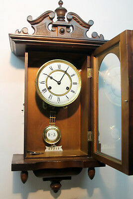*Old Wall Clock Chime Clock *Regulator* DUGENA* Made in Germany*