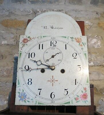 Working Antique Longcase Clock Dial/ Movement. Juler, N Walsham. c1815. 12/17