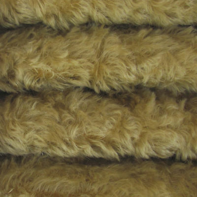 "1/6 yd 785S/C Buckwheat INTERCAL 3/4"" Med. Density Curly German Mohair Fabric"