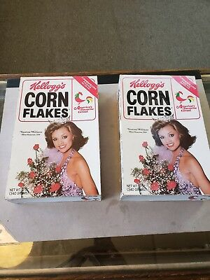 Lot Of 2 Vanessa Williams Corn Flake Cereal Boxes Empty Miss America Playboy