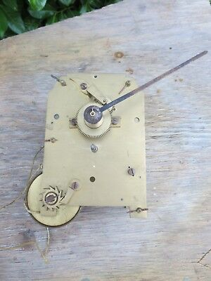 Quality English Fusee Clock Movement. With Minute Hand. Spares or Repair