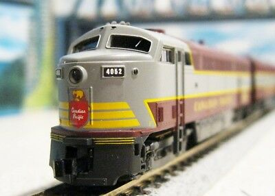 N Scale DC Canadian Pacific A & B Units Rare Powered Maroon & Gray...Scroll Down