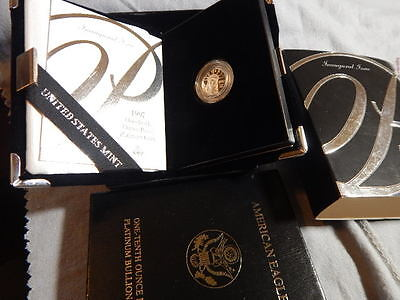 1997-W 1/10 Oz Proof Platinum American Eagle Inaugural. In original Box ...LG244