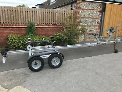Twin Axle boat, fishing or speed boat trailer - requires work