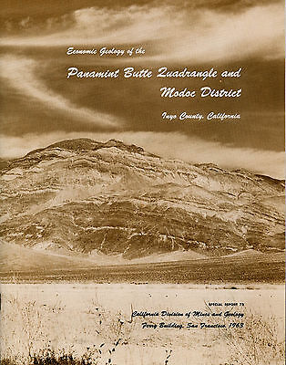 Panamint gold & silver mines, RARE state report, Death Valley, 12 BIG maps, VG !