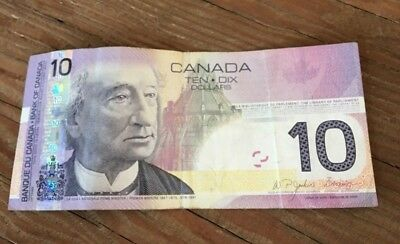 Canadian 10 dollar paper money 2005