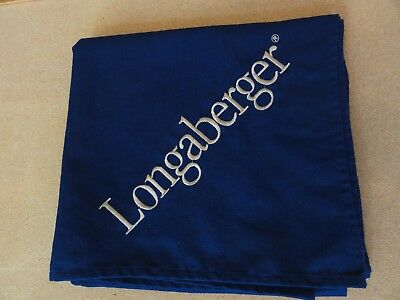 Longaberger Consultant Indigo w Gold Logo Embroidered Tablecloth