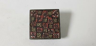 Roman Plate Brooch with Millefiori Inlay. 1st-2nd century AD