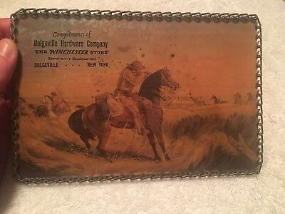 Antique Winchester Advertisement Shooting Cowboy Dolgeville Hardware Company, NY