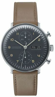 AUTHORIZED DEALER Junghans 027/4501.01 Max Bill Chronoscope Day/Date Watch