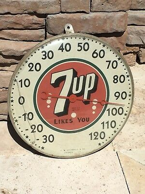 Vintage 7up Thermometer Likes You 7-up 7 up