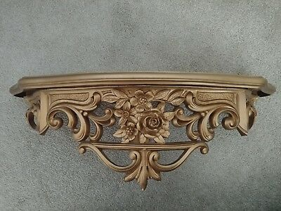 Antique Vintage Syroco Wall ShelfBed Crown * Shabby Chic