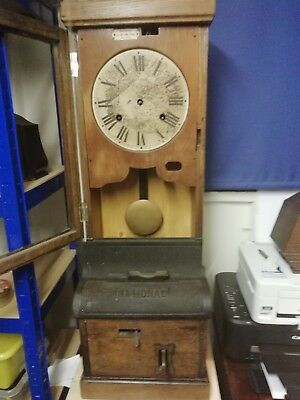 Vintage National Clocking On Clock. Unfinished Project. S/R