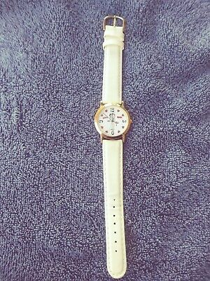 Vintage 1994 Betty Boop Watch White leather Band