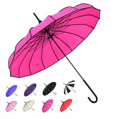 Clothing Shoes Accessories Fashion Princess Paa Rain Umbrella Drape Side Women Long Handle