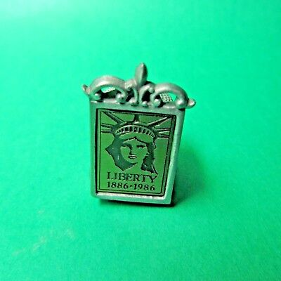 Vintage Statue Of Liberty 1886-1986 New York Pewter Display Thimble (T80)