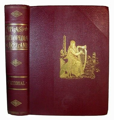 IRELAND Irish HISTORY Genealogy 1905 HERALDRY Antique ATLAS MAPS PHOTOS Celtic