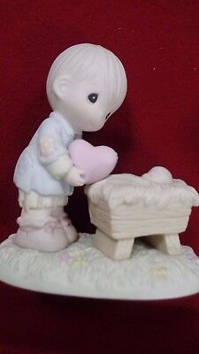 Precious Moments I'll give him my heart figurine by Enesco with Original Box